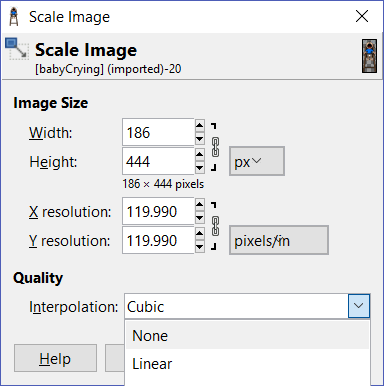 Scale Image in GIMP2