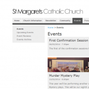 St Margaret's Website Events Page